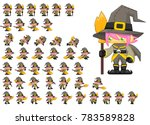 animated cute witch girl for... | Shutterstock .eps vector #783589828