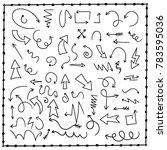 sketchy arrow set. hand drawn... | Shutterstock .eps vector #783595036