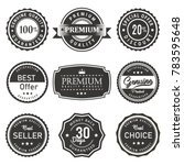 vector label seal premium... | Shutterstock .eps vector #783595648