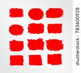 red brush stroke and texture.... | Shutterstock .eps vector #783600928