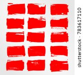 red brush stroke and texture.... | Shutterstock .eps vector #783617110