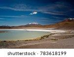 the green lagoon licancabur...   Shutterstock . vector #783618199