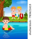 vector illustration of children ... | Shutterstock .eps vector #783621613