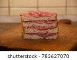 sandwich with whole grain bread ... | Shutterstock . vector #783627070