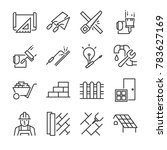 home renovation icon set.... | Shutterstock .eps vector #783627169