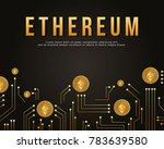 block chain background style... | Shutterstock .eps vector #783639580