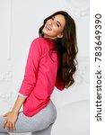 female model in pajama. woman... | Shutterstock . vector #783649390
