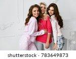 girls in pajamas. beautiful... | Shutterstock . vector #783649873