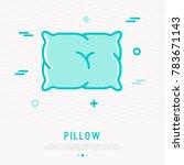 comfortable fluffy pillow thin... | Shutterstock .eps vector #783671143