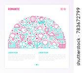 romantic concept in half circle ... | Shutterstock .eps vector #783672799