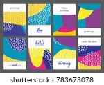 set of creative universal... | Shutterstock .eps vector #783673078