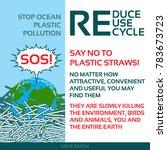 stop plastic pollution reduce ...   Shutterstock .eps vector #783673723