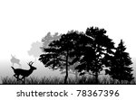 illustration with trees and... | Shutterstock .eps vector #78367396