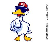 the cool goose using sunglasses ... | Shutterstock .eps vector #783677890