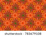 Summer Exotic Floral Abstract...