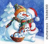 A Loving Couple Of Snowmen....