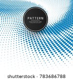 abstract blue halftone patern... | Shutterstock .eps vector #783686788