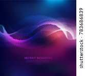 elegant shiny colorful halftone ... | Shutterstock .eps vector #783686839