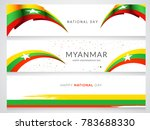 header or banner of myanmar...   Shutterstock .eps vector #783688330