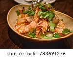 fine dining asian cuisine... | Shutterstock . vector #783691276