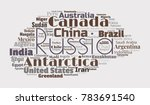 100 biggest countries word... | Shutterstock .eps vector #783691540