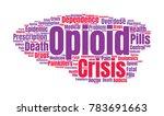 opioid crisis word cloud... | Shutterstock .eps vector #783691663