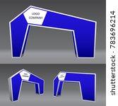 simple gate entrance modern... | Shutterstock .eps vector #783696214