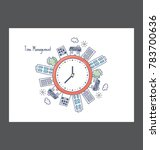 time management vector icon  | Shutterstock .eps vector #783700636