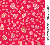 pattern with hearts valentines... | Shutterstock .eps vector #783703384