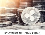 silver ripple coin among stack... | Shutterstock . vector #783714814