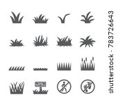 grass icon set | Shutterstock .eps vector #783726643