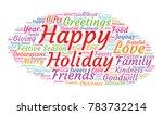 happy holidays word cloud... | Shutterstock .eps vector #783732214