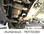 oil leak under the car | Shutterstock . vector #783732283