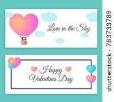 valentines day banner   Shutterstock .eps vector #783733789