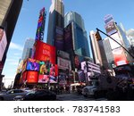 times square  new york  ... | Shutterstock . vector #783741583