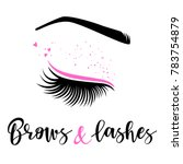 brows and lashes logo. vector...   Shutterstock .eps vector #783754879