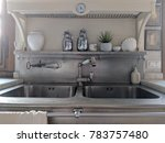 shabby chic kitchen | Shutterstock . vector #783757480