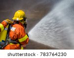 Firefighter Water Spray By Hig...