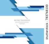 modern abstract blue background | Shutterstock .eps vector #783768100