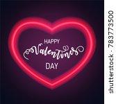 neon heart. bright heart. retro ...   Shutterstock .eps vector #783773500