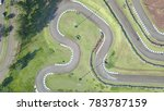 kart racing track from top view | Shutterstock . vector #783787159