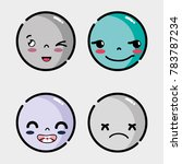 set faces emoji with different... | Shutterstock .eps vector #783787234