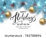 holidays greeting card for...   Shutterstock .eps vector #783788896
