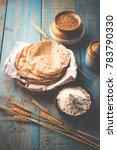 indian chapati   fulka or gehu... | Shutterstock . vector #783790330