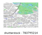 vector map of berlin city... | Shutterstock .eps vector #783795214