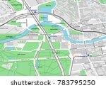 vector city map of berlin near... | Shutterstock .eps vector #783795250