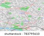 vector city map of berlin... | Shutterstock .eps vector #783795610