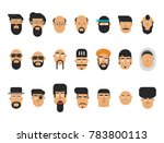 set of flat face character... | Shutterstock .eps vector #783800113