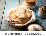 indian tava roti   fulka  ... | Shutterstock . vector #783802090