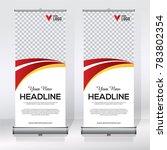 roll up banner design template  ... | Shutterstock .eps vector #783802354